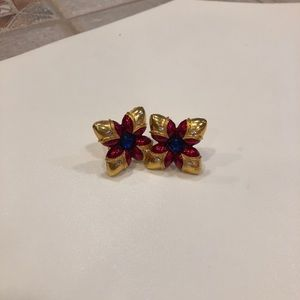 Gerard Yosca gold clip on earrings